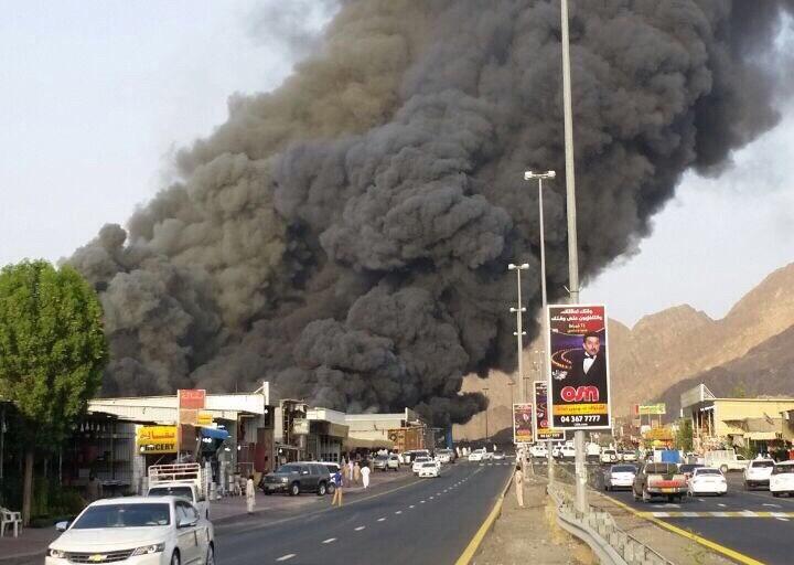 حريق في سوق الجمعة بمسافي