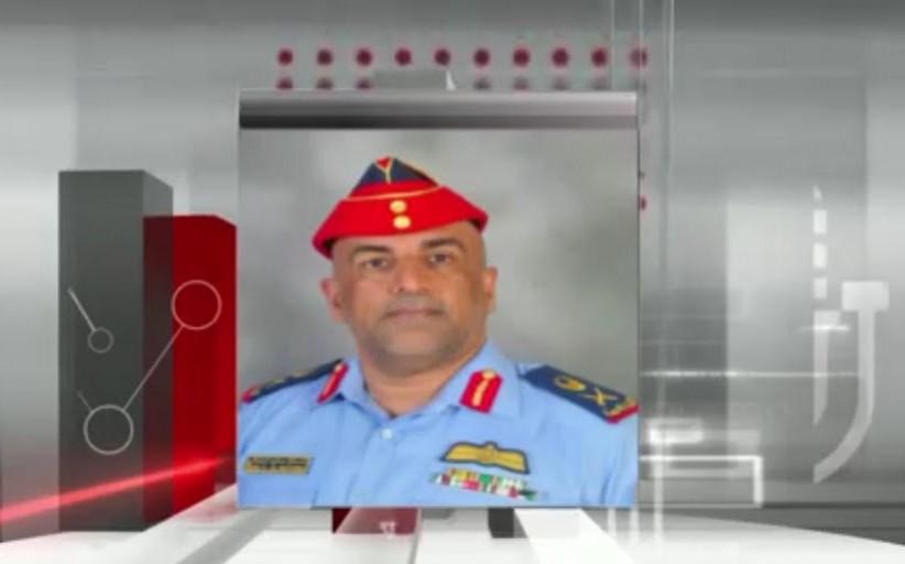 اللواء الركن طيار إسحاق صالح البلوشي متحدثاً عن بطاقة حماة الوطن
